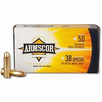 38 Special 158gr FMJ Armscor Precision Ammo | 50 Round Box