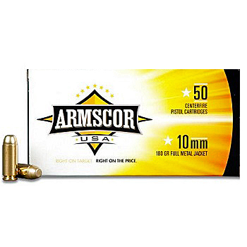 10mm 180gr FMJ Armscor USA Ammo | 50 Round Box