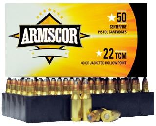 22 TCM 40gr JHP Armscor Precision Ammo Case | 1000 rds