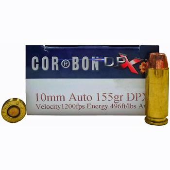 10mm Auto 155gr DPX Corbon Ammo   20 Round Box