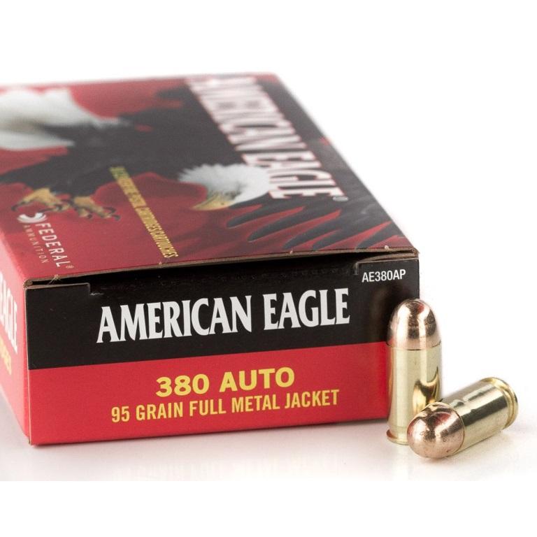 380 ACP (380 Auto) 95gr FMJ Federal American Eagle Box (50 rd)