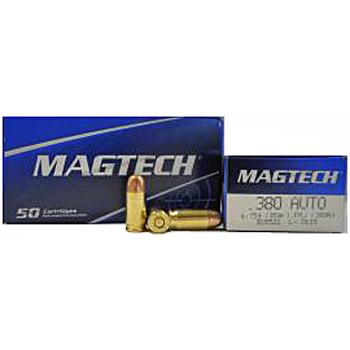 380 Auto [ACP] 95gr FMJ Magtech Ammo | 50 Round Box