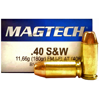 40 S&W 180gr FMJ-FP Magtech Ammo   50 Round Box