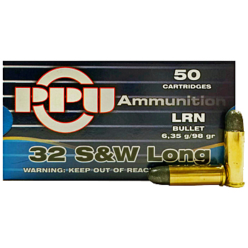 32 S&W Long 98gr LRN PPU Ammo | 50 Round Box