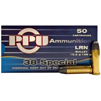 38 Special 158gr LRN PPU Ammo | 50 Round Box