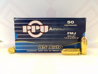 Buy This 45 ACP [45 Auto] 230 gr FMJ PPU Ammo for Sale