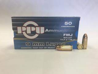 Buy This 9mm Luger (9x19mm) 115 gr FMJ PPU Ammo for Sale