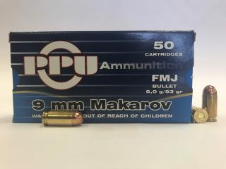 Buy This 9mm Makarov [9x18mm] 93 gr FMJ PPU Ammo for sale