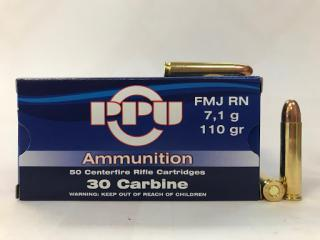 Buy This 30 Carbine 110gr FMJ PPU Ammo for Sale