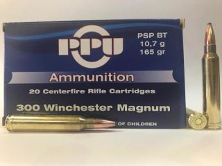 Buy This 300 Winchester Magnum 165gr PSP BT PPU Ammo for Sale