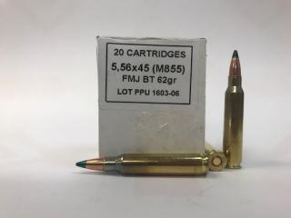 Buy This 223 Remington [5.56x45mm] 62 gr FMJBT M855 PPU Ammo for sale