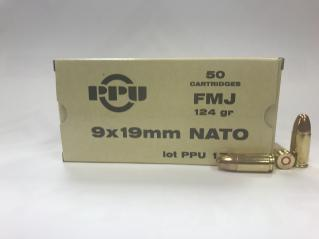 Buy This 9mm Luger [9x19mm] 124 gr NATO FMJ PPU Ammo for Sale