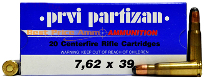 Buy This 7.62x39 123 gr SP RN PPU Ammo for sale