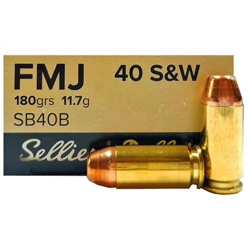 40 S&W 180gr FMJ Sellier & Bellot Ammo | 50 Round Box