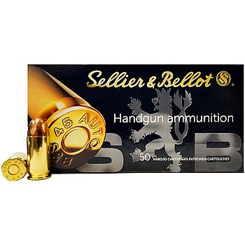45 Auto [ACP] 230gr FMJ Sellier & Bellot Ammo | 50 Round Box