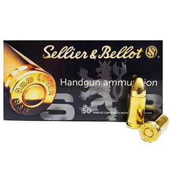 9mm Luger [9x19mm] 115gr FMJ Sellier & Bellot Ammo | 1000 Round Case
