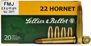 22 Hornet 45gr FMJ Sellier & Bellot Ammo