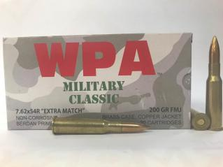 """7.62x54r 200GR FMJ Wolf Millitary Classic """"Extra Match"""" Ammo for sale"""