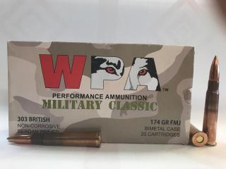 303 British 174gr FMJ Wolf WPA Military Classic   20 Round Box
