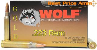223 Remington [5.56x45mm] 55gr FMJ Wolf Gold Ammo | 500 Round Battle Pack