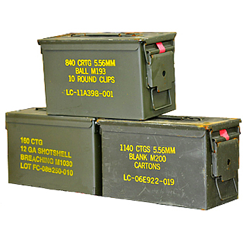Issued 50 Caliber Mil-Spec Ammo Can