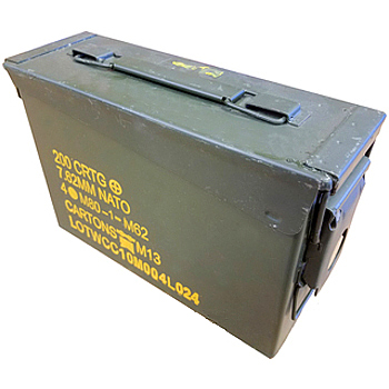 Issued 30 Caliber Mil-Spec Ammo Can